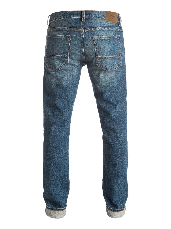 distorsion medium blue 34 slim fit jeans eqydp03252. Black Bedroom Furniture Sets. Home Design Ideas