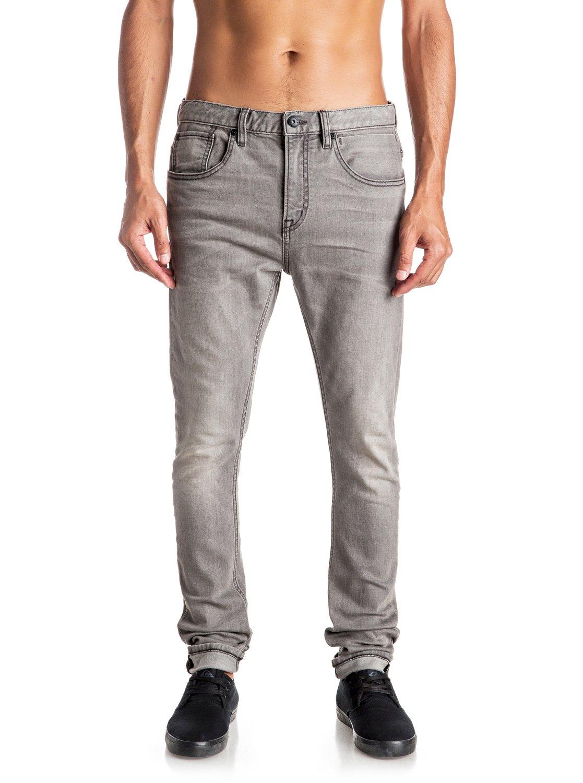 low bridge used grey skinny jeans eqydp03309 quiksilver. Black Bedroom Furniture Sets. Home Design Ideas