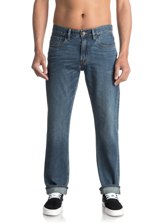 Sequel Medium Blue Regular Fit Jeans Eqydp03344 Quiksilver