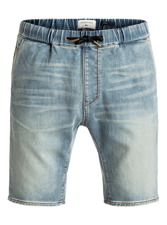 Fonic Blur - Shorts en molleton denim slim pour Homme - Quiksilver