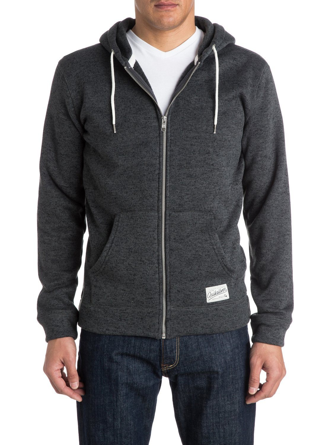 Quiksilver™ Keller Zip - Zip-Up Polar Fleece Hoodie - Fleece Top ...