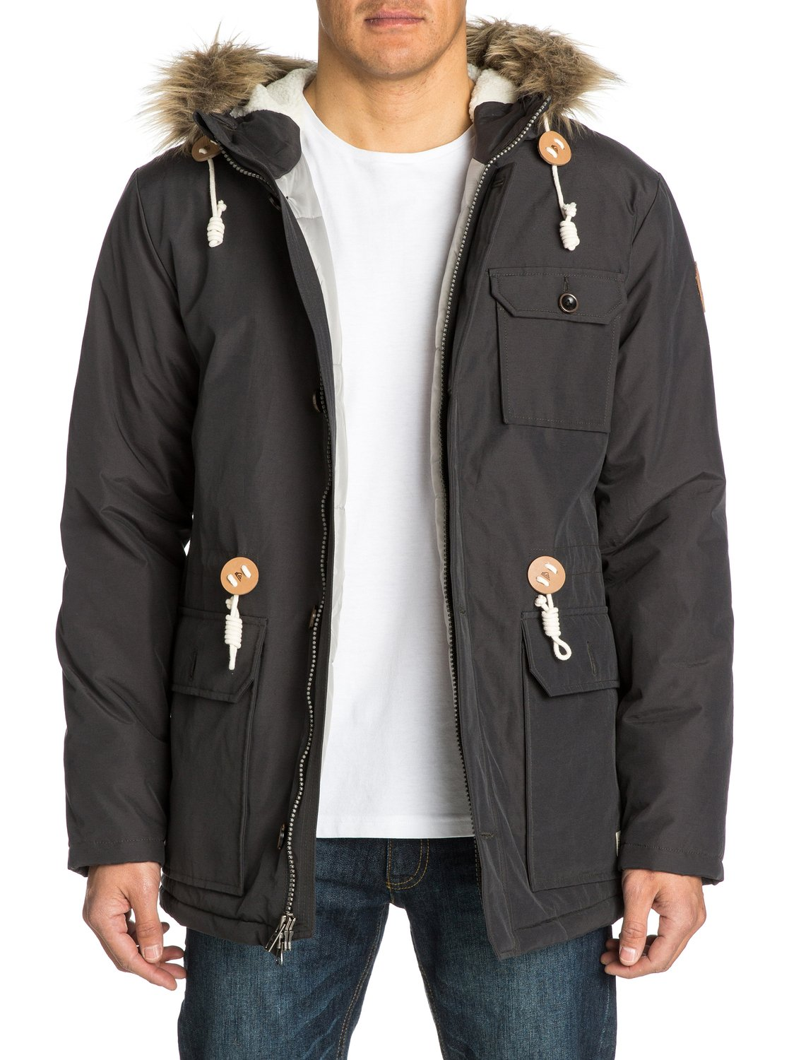 Quiksilver leather jacket