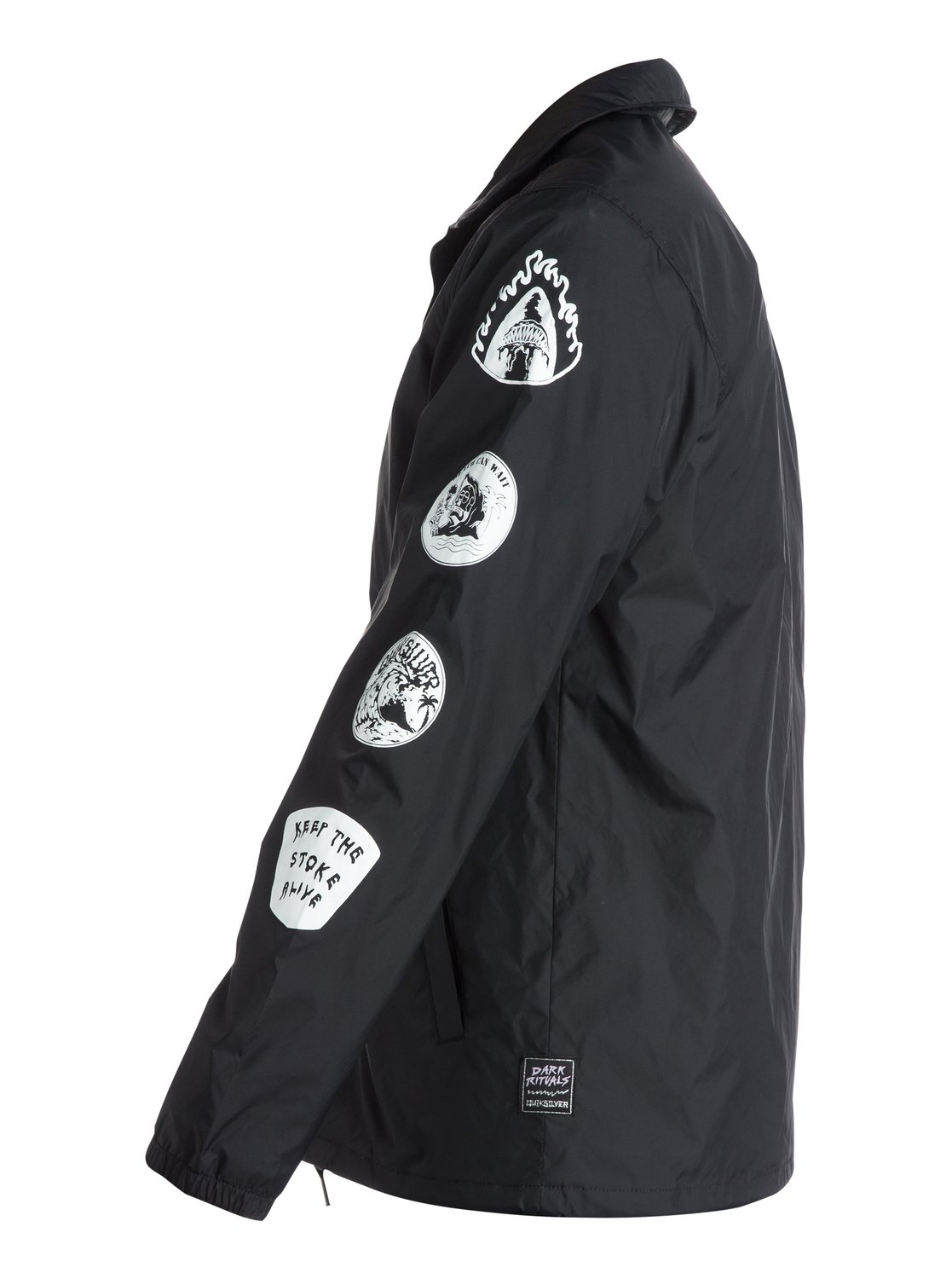 Quiksilver mens jacket - 1 Death By Stereo Coach Jacket Eqyjk03118 Quiksilver