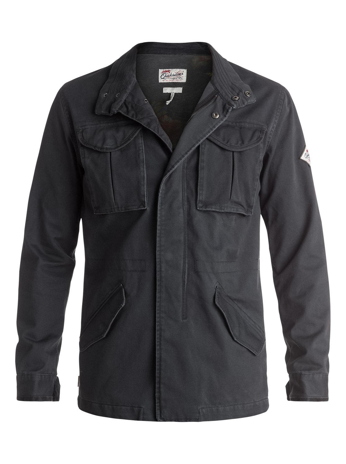 quiksilver new capital veste militaire pour homme eqyjk03242 ebay. Black Bedroom Furniture Sets. Home Design Ideas