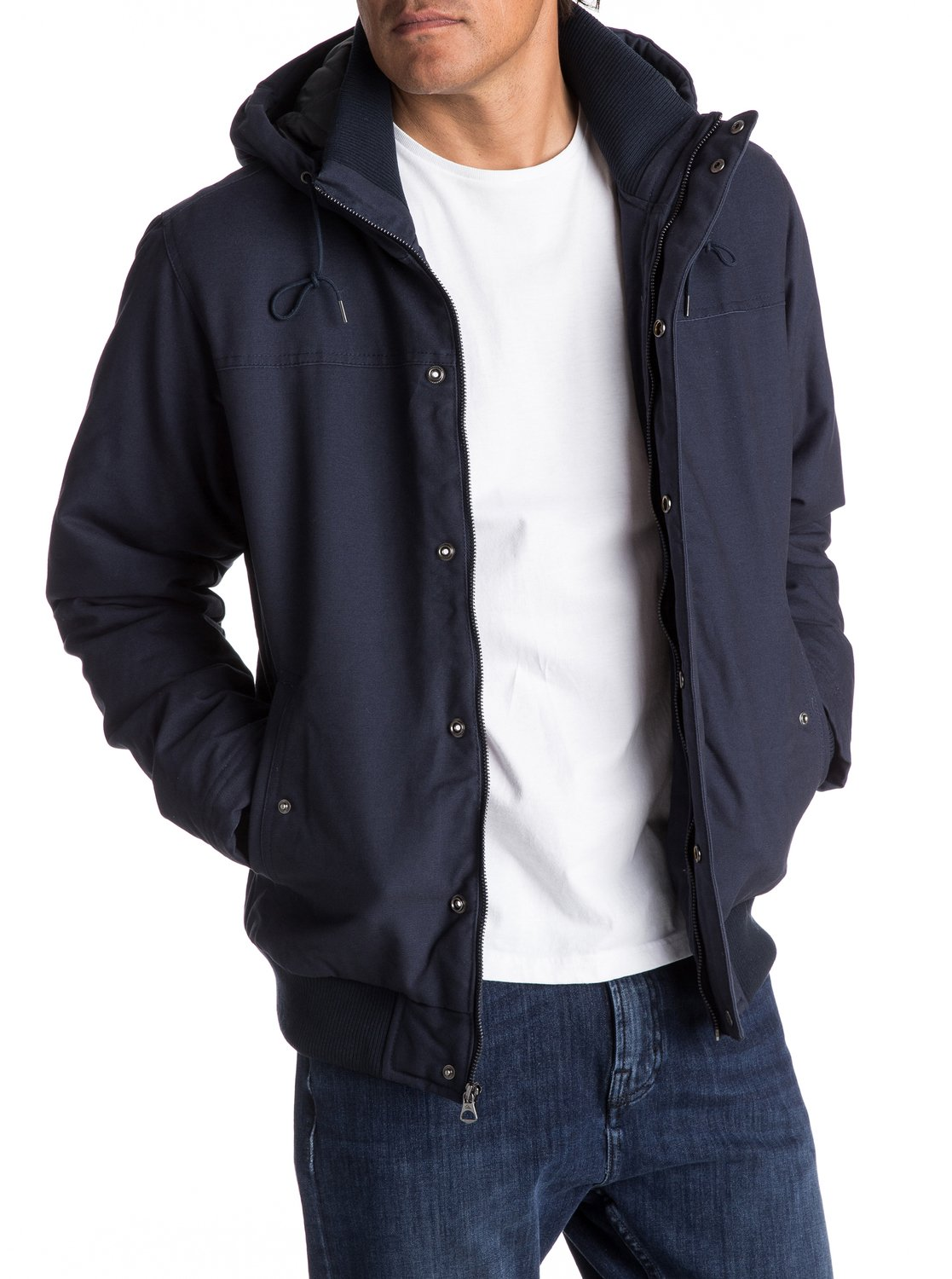 Everyday Brooks - Water-Repellent Hooded Bomber Jacket EQYJK03365 ...