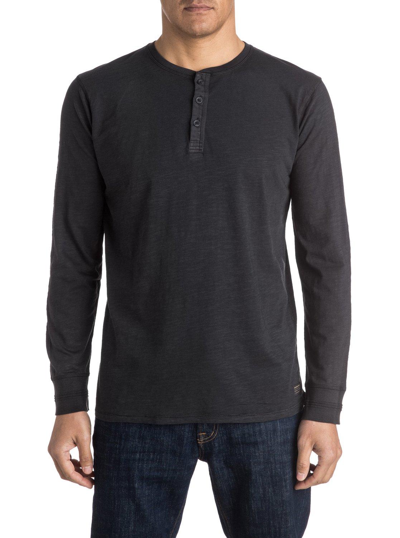 Runaround long sleeve henley t shirt eqykt03412 quiksilver for Henley t shirt long sleeve