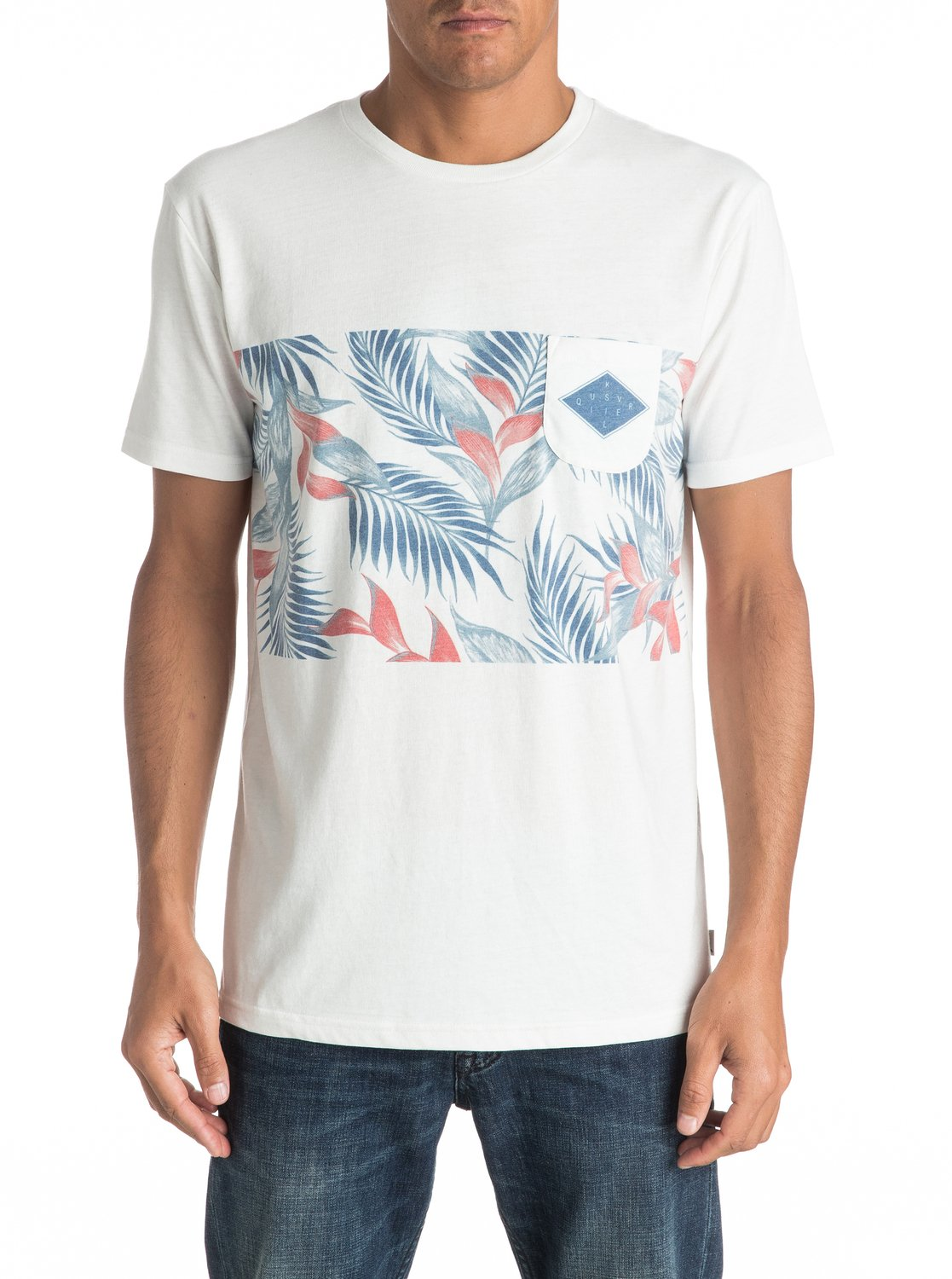 Faded time pocket t shirt eqykt03545 quiksilver for Faded color t shirts