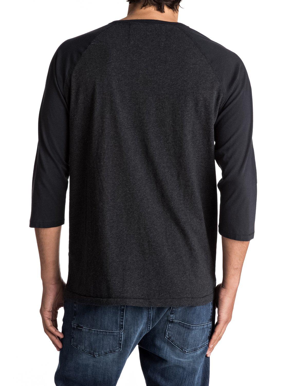 Baysic 3 4 3 4 sleeve henley tee eqykt03630 quiksilver for 3 4 henley shirt