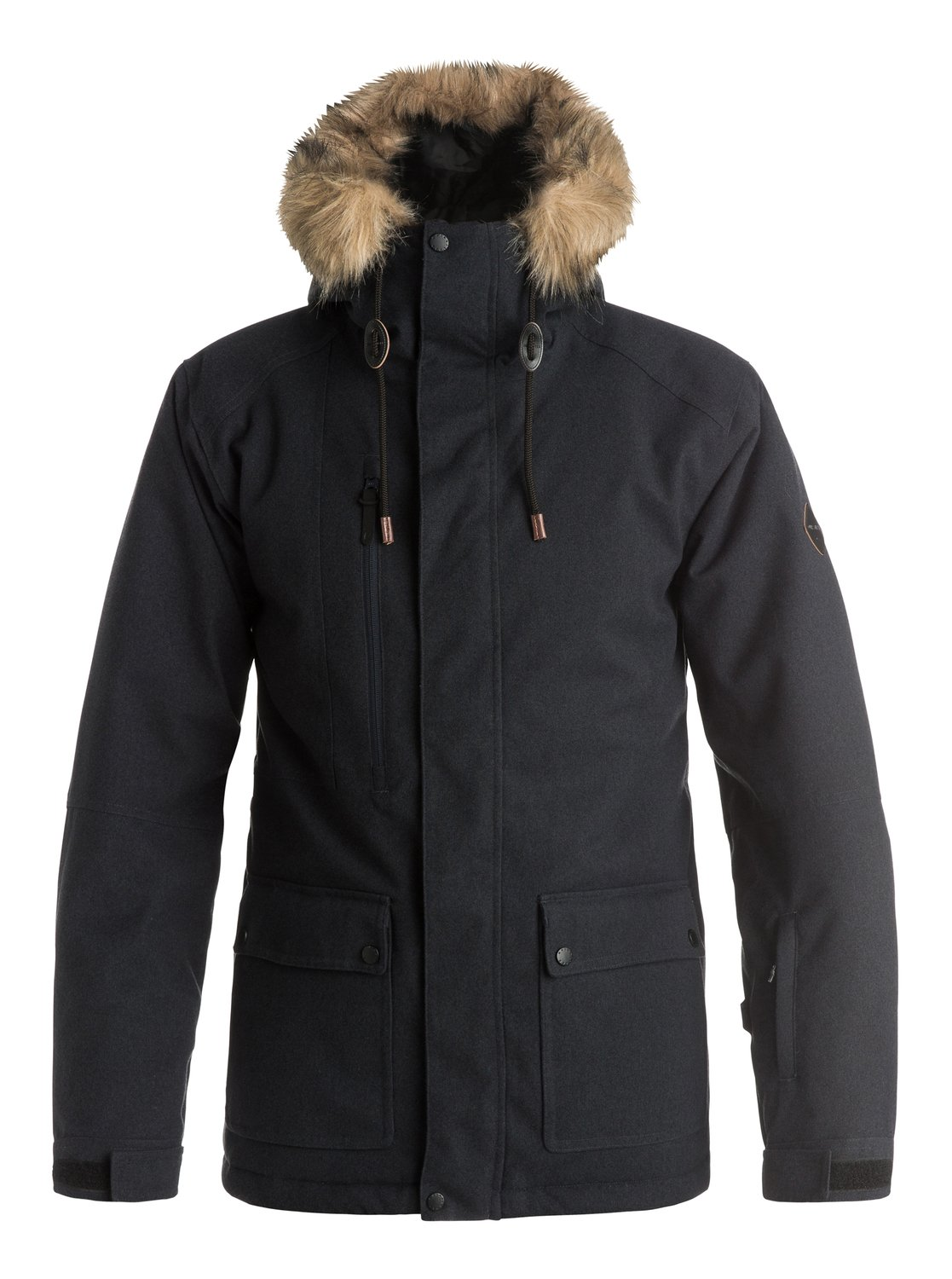 Сноубордическая куртка SelectorThe parka-inspired Selector snow jacket for men combines urban style with functional features. 10K Quiksilver DryFlight® technology for reliable waterproof and breathable protection, an easy-to-wear regular fit allows space to layer and Warmflight® insulation level 3 with a sherpa, chambray and lightweight, breathable taffeta lining keeps it cosy on the coldest winter days.<br>
