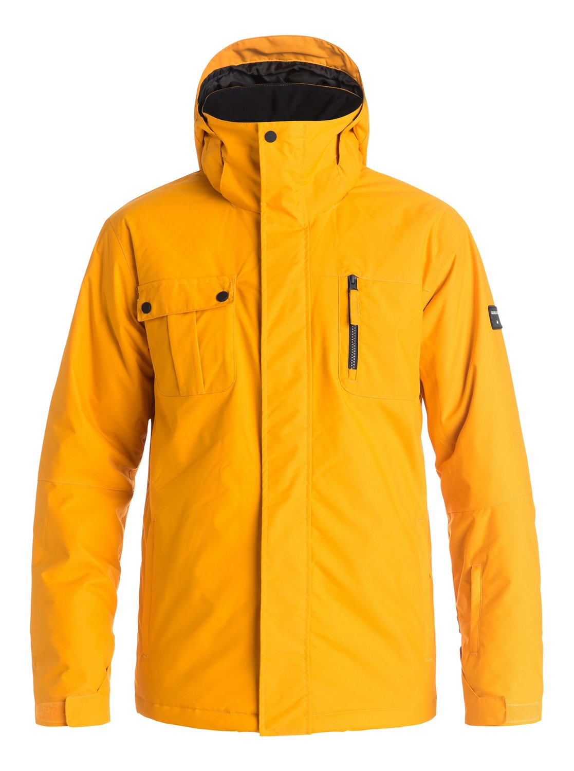 Сноубордическая куртка Mission SolidThe Mission Solid snow jacket is the king of simple style with its bold block colourways. An easy-to-wear regular fit allows space to layer and is complemented by 10K Quiksilver DryFlight® technology waterproofing, Warmflight® level 2 insulation for low-bulk warmth, a taffeta and mesh lining with brushed tricot panels, and critically-taped seams for extra protection in the most exposed areas.<br>