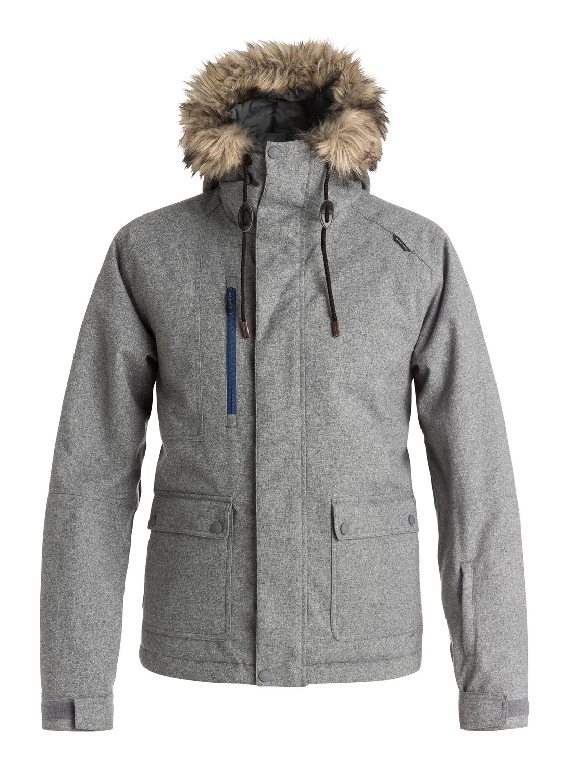 Сноубордическая куртка Selector PlusThe urban-influenced style of the parka-inspired Selector Plus snow jacket for men combines street looks with mountain performance. 10K Quiksilver DryFlight® technology for reliable waterproof and breathable protection, an easy-to-wear regular fit allows space to layer and Warmflight® insulation level 3 with a sherpa, chambray and lightweight, breathable taffeta lining to keep cosy on the coldest winter days.<br>