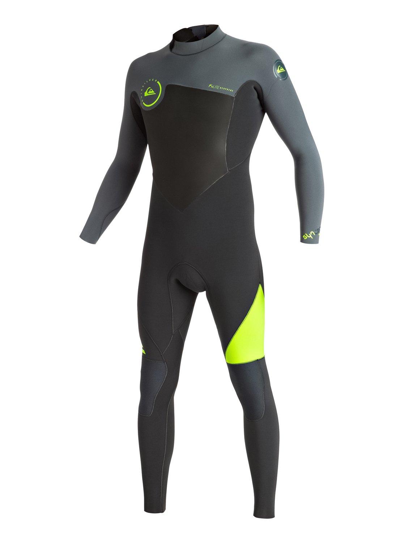 Syncro 3/2mm - Combinaison de surf intégrale zip dans le dos pour homme - Quiksilver
