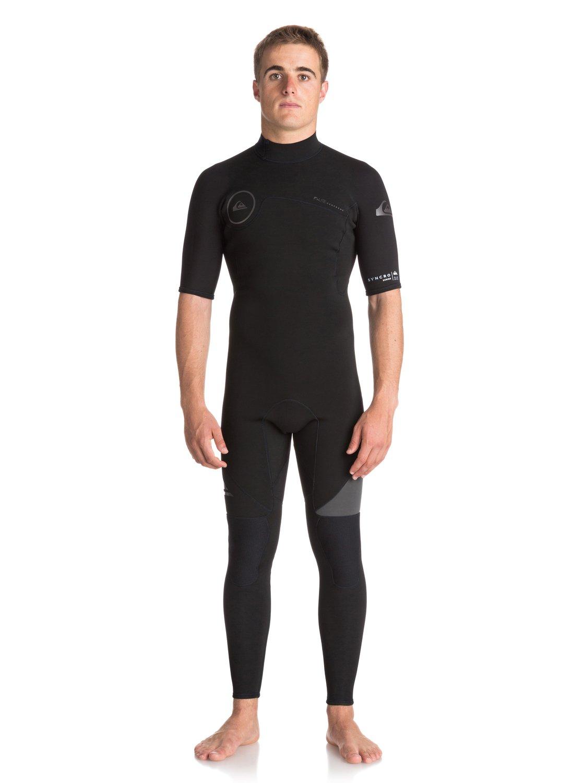 2mm Syncro series back zip flt - combinaison de surf intégrale à manches courtes pour homme - quiksilver
