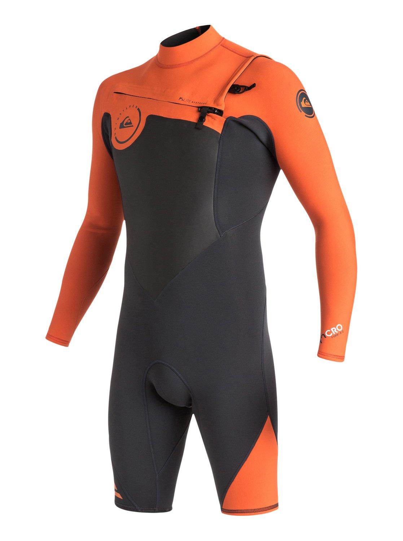 Короткий мужской гидрокостюм с длинным рукавом и нагрудной молнией Syncro 2/2mm от Quiksilver RU