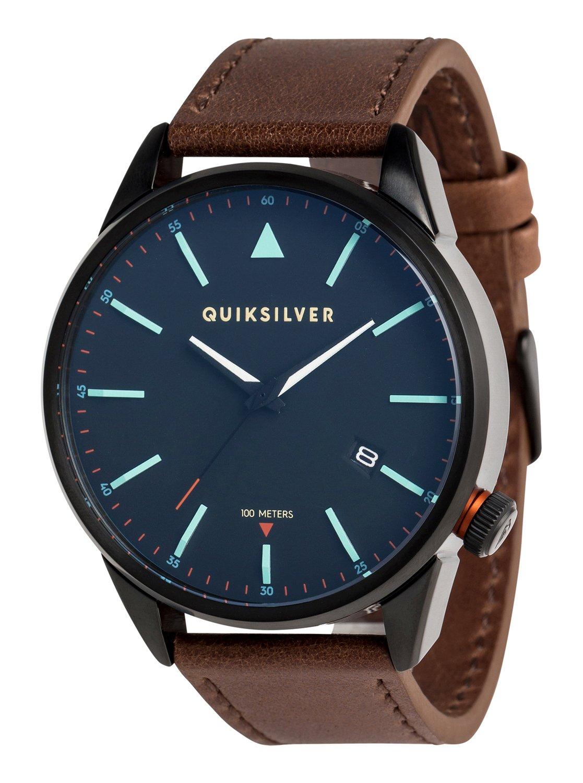 The Timebox Leather - Montre analogique pour Homme - Quiksilver