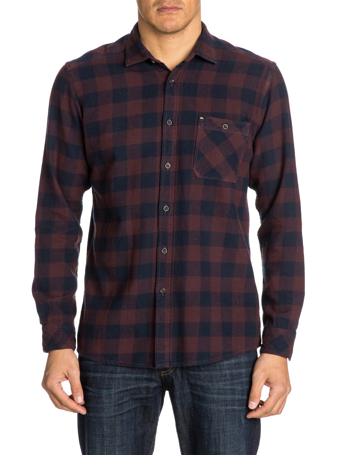 gulls long sleeve flannel shirt eqywt03005 quiksilver
