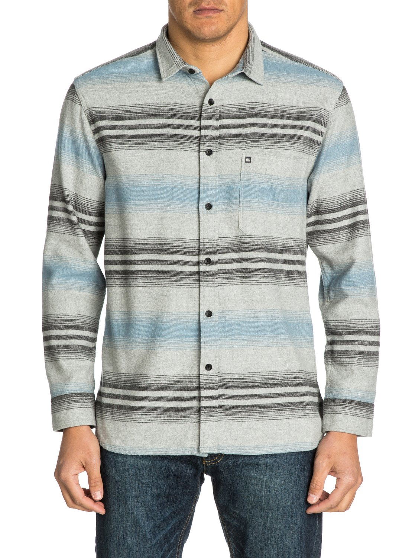 Skua slim fit long sleeve flannel shirt eqywt03008 for Trim fit flannel shirts