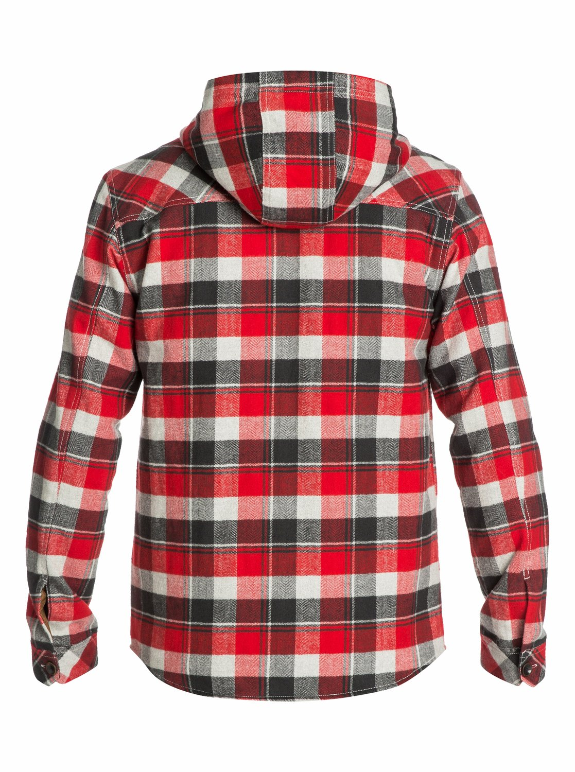Wight hooded long sleeve flannel shirt eqywt03010 quiksilver for Super soft flannel shirts
