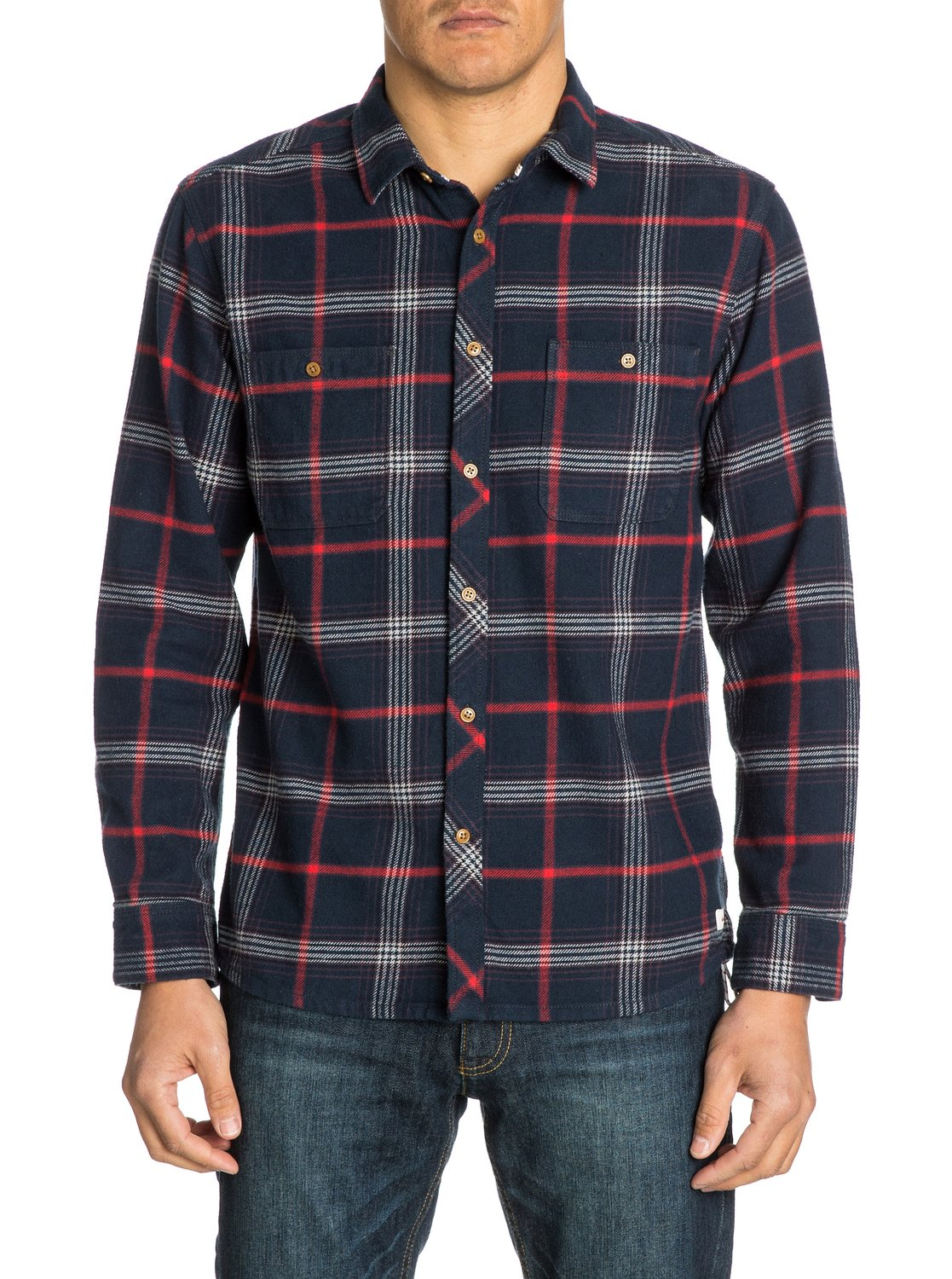 The flannel long sleeve flannel shirt eqywt03034 quiksilver for What are flannel shirts made of