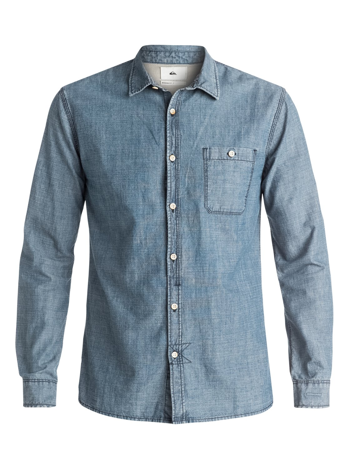 Quiksilver the chambray long sleeve shirt for men for Chambray long sleeve shirt
