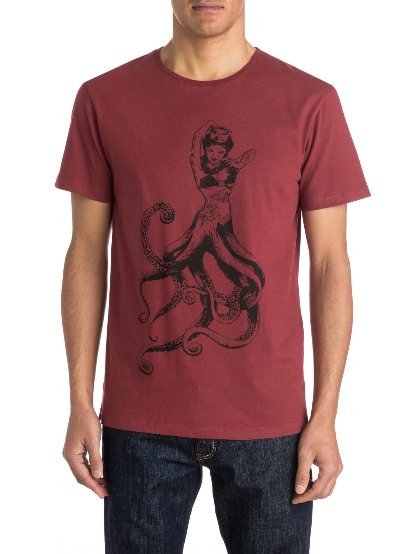 organic octopussys t shirt eqyzt03447 quiksilver. Black Bedroom Furniture Sets. Home Design Ideas