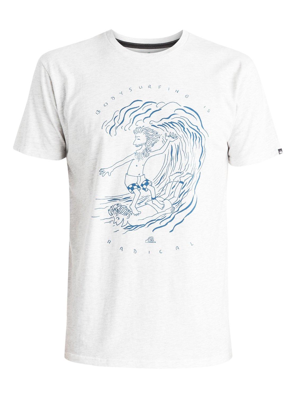 Mens Classic Radical Surfing T-ShirtМужская футболка Classic Radical Surfing от Quiksilver. <br>ХАРАКТЕРИСТИКИ: короткие рукава, мягкий натуральный трикотаж, легкий текстиль, стандартный крой. <br>СОСТАВ: 100% хлопок.<br>