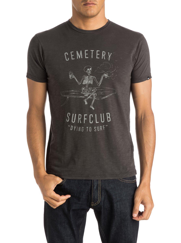 Slub cemetery t shirt eqyzt03689 quiksilver for What is a slub shirt