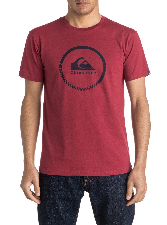 zu quiksilver classic active logo t shirt f r m nner eqyzt03925. Black Bedroom Furniture Sets. Home Design Ideas
