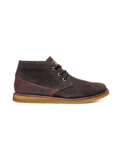 MarquezМужские замшевые кеды на шнуровке Marquez от Quiksilver. Характеристики: верх из мягкой натуральной замши, вощеные хлопчатобумажные шнурки, особая конструкция с «прошвой» – кожаной вставкой между внутренником и верхом. <br>СОСТАВ: ВЕРХ: 100% кожа / ПОДОШВА: каучук<br>