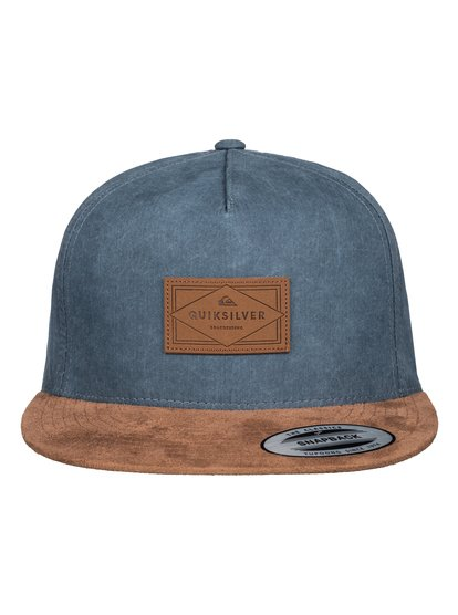 Fineline - Snapback CapThis mens baseball cap comes in a range of easy colourways. The uncomplicated snapback adjusts for a snug fit, whilst the contrasted suede-look peak and faux-leather logo patch elevate the look.<br>