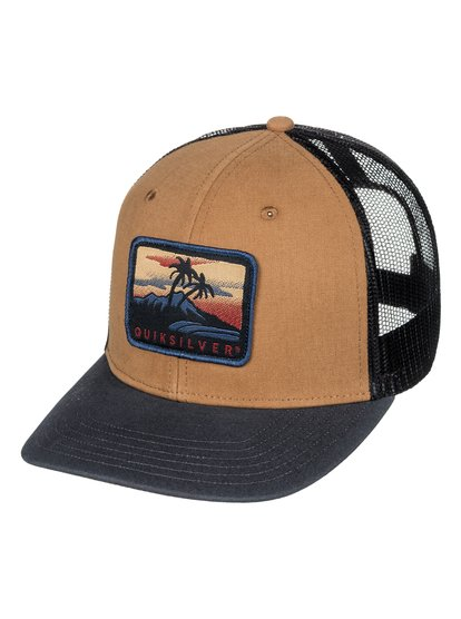 Blocked Out - casquette trucker pour homme - marron - quiksilver