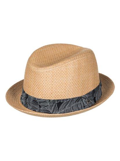 Schralpsten - Chapeau de paille style fedora pour Homme - Marron - Quiksilver