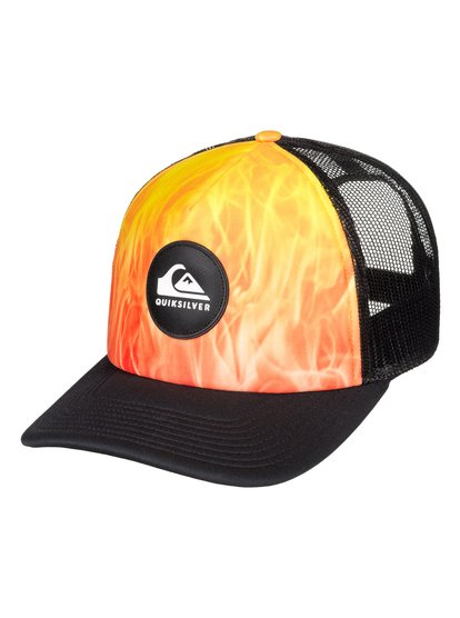 Bright Learnings - casquette trucker pour homme - orange - quiksilver
