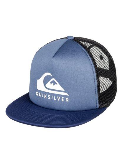 Foamslay - casquette trucker pour homme - bleu - quiksilver