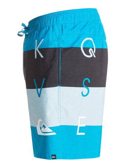 Letter Press Vl E17Купальные шорты для мужчин от Quiksilver – новинка из коллекции Весна 2015. Характеристики: ткань Supersuede из переработанного сырья с сертифицированным происхождением, стандартный крой, длина 43.2 см по внешнему шву.<br>