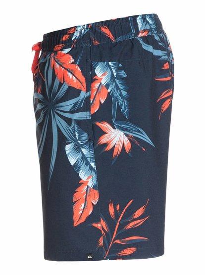 Frames Jungle Juice Vl E17Купальные шорты для мужчин от Quiksilver – новинка из коллекции Весна 2015. Характеристики: эластичная ткань 4-way Stretch из переработанного сырья с сертифицированным происхождением, стандартный крой, длина 43.2 см по внешнему шву.<br>