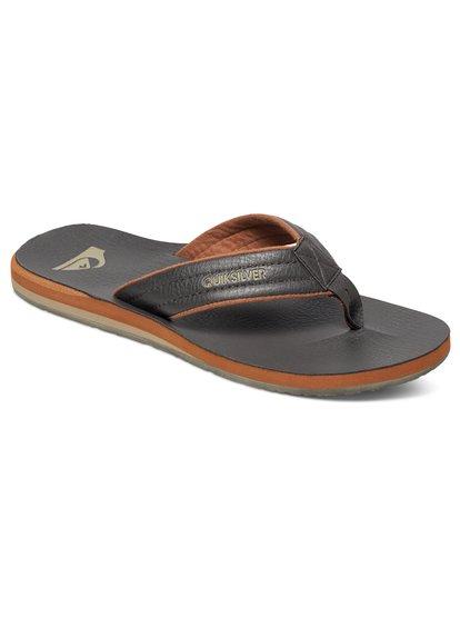 Carver Nubuck - sandales pour homme - marron - quiksilver