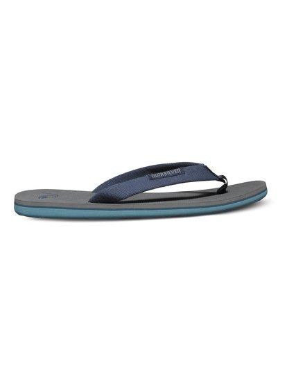 Mens Molokai Woven Flip FlopsЭти сандалии для мальчиков от Quiksilver – превосходное дополнение к нашей новой коллекции. <br>ХАРАКТЕРИСТИКИ: тонкий текстильный верх, нейлоновая перемычка с фактурой «в елочку», удобная фактурная подошва.<br>