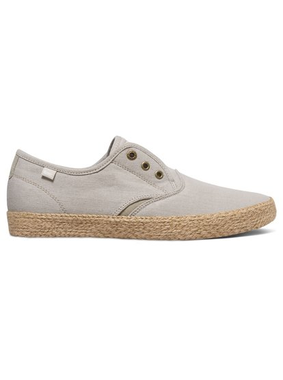 Shorebreak Deluxe - Laceable Slip-On ShoesThe easy beige canvas upper makes the Shorebreak Deluxe the ideal, lightweight summer shoes to slip-on with all your warm-weather outfits. Behind the Espadrille-inspired sole is an anatomically correct inner sole, so you get the look plus the comfort. Delivered with optional cotton laces.<br>