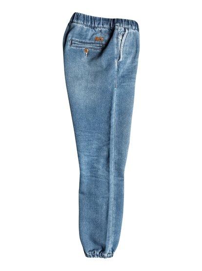Boys Fonic Denim Fleece Slim Fit JeansУзкие джинсы для мальчиков Fonic Denim Fleece от Quiksilver.ХАРАКТЕРИСТИКИ: эластичный пояс и края штанин, клиновидная вставка-ластовица, стопроцентная эластичная синтетика, мягкий деним плотностью 255 г/кв. м.СОСТАВ: 83% хлопок, 15% полиэстер, 2% эластан.<br>