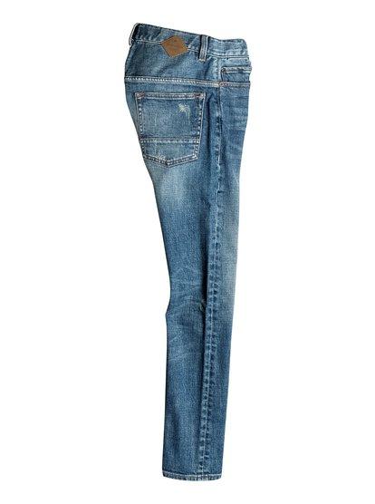 Quiksilver Облегающие джинсы Low Bridge Blue Damaged
