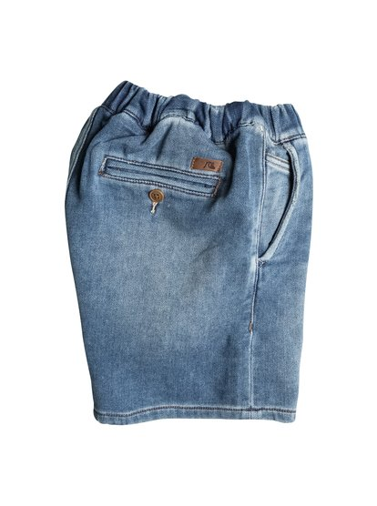 Quiksilver Boy's Fonic Denim Fleece Denim Shorts