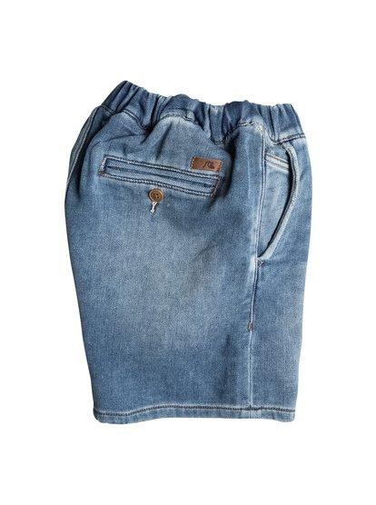 Boys Fonic Denim Fleece Denim ShortsДжинсовые шорты для мальчиков Fonic Denim Fleece от Quiksilver.ХАРАКТЕРИСТИКИ: эластичный пояс, клиновидная вставка-ластовица, длина 38,1 см, стопроцентная эластичная синтетика.СОСТАВ: 83% хлопок, 15% полиэстер, 2% эластан.<br>