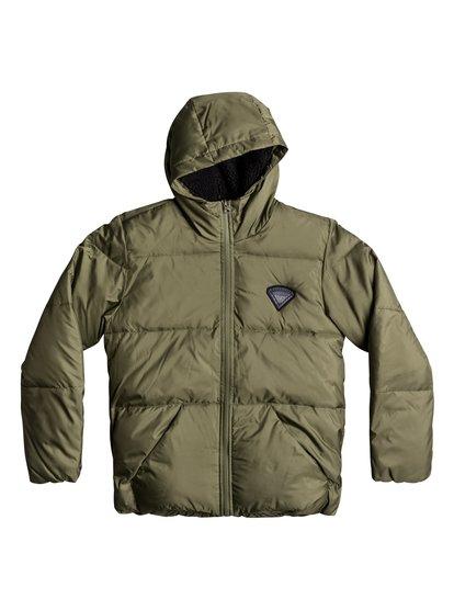 Sweet Yana ki - manteau matelassé déperlant pour garçon 8-16 ans - vert - quiksilver