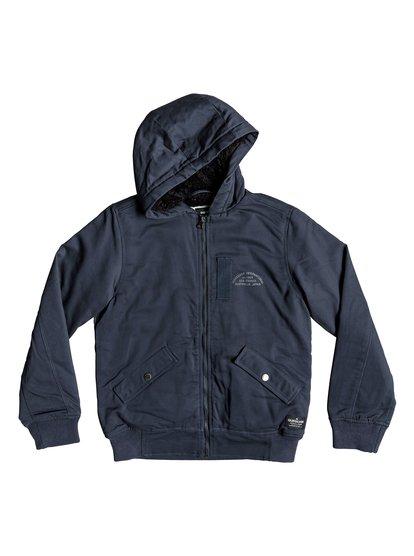 Hana Go - veste à capuche déperlante pour garçon 8-16 ans - bleu - quiksilver