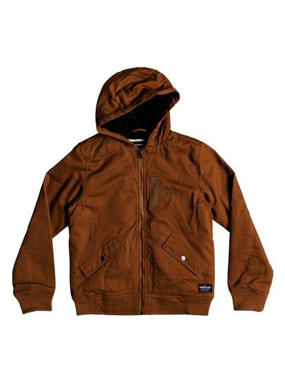 Hana Go - veste à capuche déperlante pour garçon 8-16 ans - marron - quiksilver