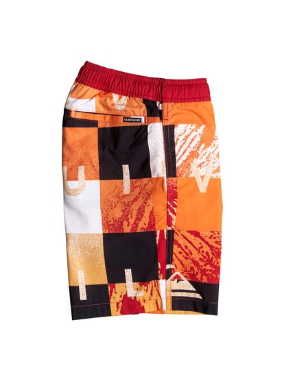 "Quiksilver Boy's Check Remix 15"" Volley Boardshorts"
