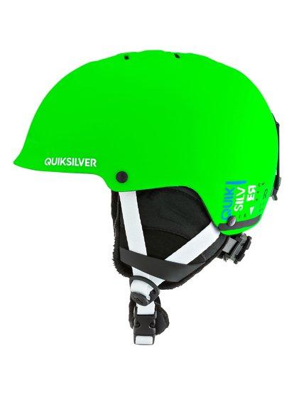 EmpireСноубордический шлем Empire для мальчиков из новой сноубордической коллекции Quiksilver. ХАРАКТЕРИСТИКИ: двойной микрошелл и очень легкая литая конструкция, амортизирующий наполнитель из пены EPS, вентиляция спереди для лучшего воздухообмена, теплая и комфортная подкладка из шерпы и сетки, мягкие термоформованные съемные ушные накладки. <br>