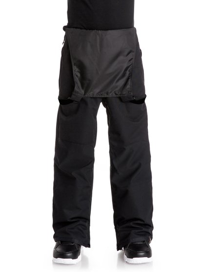 Сноубордические штаны-комбинезон FoundThe Found bib snow pants for boys feature all the streetwear-styling and technical firepower of big guys outerwear, tailored to the young gun size. 15K Quiksilver DryFlight® technology ensures solid and dependable waterproof protection in wet and snowy weather conditions. An easy-to-wear regular fit allows space to layer and is complemented by Warmflight® insulation level 1 for lightweight all-season warmth that can be layered. The all-over bib protection is reinforced with critically-taped seams for extra cover in the most exposed areas.<br>