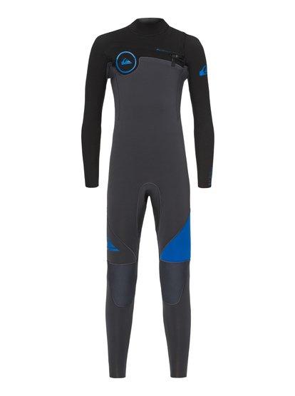 3/2mm Syncro series - combinaison gbs zip poitrine pour garçon 8-16 ans - bleu - quiksilver